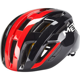 MET Vinci MIPS Casco, black/shaded red glossy